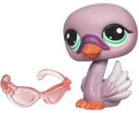Littlest Pet Shop Get The Pets Single Figure Purple Swan Special Edition Pet! (Multicolor)