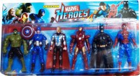 LAVIDI Super Hero 6 In 1 Action Figure For Kids (Multicolor)
