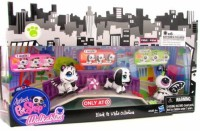 Hasbro Littlest Pet Shop Walkables Exclusive Playset Black White Collection (Multicolor)