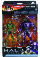 McFarlane Toys Halo Reach Series 2 - Spartan Vs Elite 2 Pack Sage/Sage And Violet/Violet (Multicolor)