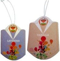 ClosetAirFresh Closet-Wardrobe Lavender-Vanilla Hanging Paper Cardboard Air Freshener
