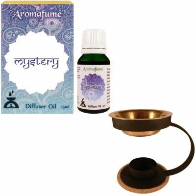 Aromafume Mystery Diffuser Oil & Brass oil burner Fruity Liquid Air Freshener