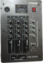Krown Professional 3-Channel Ultra Low Noise DJ Mixer With Digital Media Player 10 W AV Power Amplifier (Black)