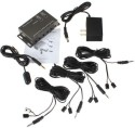 DivineXt IR Repeater System Kit DC 8 Emitters 1 Receiver 120 W AV Power Receiver (Black)