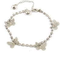 Ammvi Creations Graceful Butterfly Charm Alloy Anklet