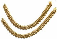 Jewelshingar 9723-payal-antique Brass Anklet Pack Of 2