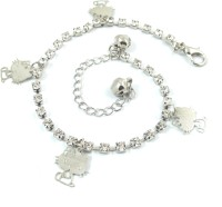Ammvi Creations Wonder Kitty Alloy Anklet