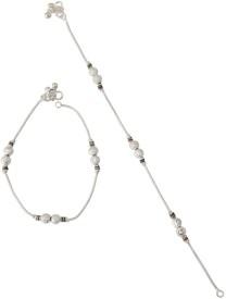 Taj Pearl Designer Brass Anklet