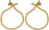 Memoir Antique Rasrawa Work Brass Anklet Pack Of 2