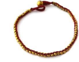 Art Godaam Dhokra Payal Brass Anklet