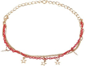 ToniQ Gold And Red Star Metal Anklet