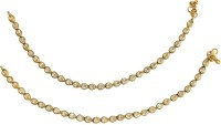 Women Trendz Golden Polish Traditional Micro Plating Brass Anklet Pack Of 2