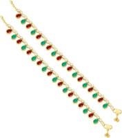 Sukkhi Astonish Gold Plating Alloy Anklet Pack Of 2