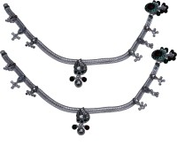 Aman Colourful Stone Anklets Silver Anklet (Pack Of 2)