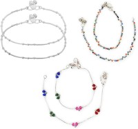 Charms Combo Of Preciousness Alloy, Metal Anklet Pack Of 6