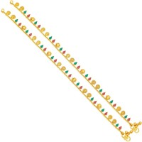 Sukkhi Glimmery Gold Plating Alloy Anklet Pack Of 2