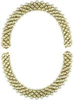 Orniza Vilandi Payal In Clear Color And Golden Polish Brass Anklet Pack Of 2 - ANKEHQRTXBZSCS6P