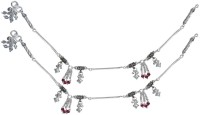 Aman Traditional_5 Silver Anklet (Pack Of 2)