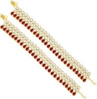 Sukkhi Graceful Gold Plating Alloy Anklet Pack Of 2