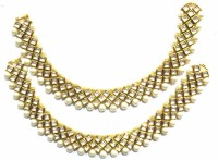 Jewelshingar Antique Pajeb Brass Anklet Pack Of 2