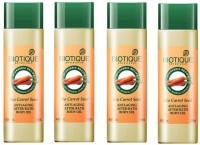 Biotique Bio Carrot Seed (Anti Aging After Bath Body Oil) Pack Of 4 (120 Ml)