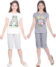 Sini Mini Night Suit Girl's  Combo