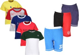 Gkidz T-shirt And Shorts Set Boys  Combo
