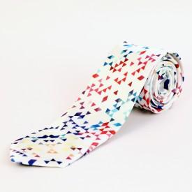 Blacksmith Geometric Iciles Design Geometric Print Men's Tie