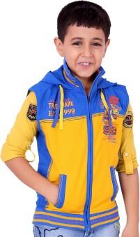 OKS Boys T-shirt And Hooded Jacket Set Boy's  Combo