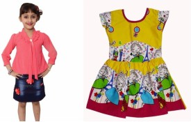 Arshia Fashions Dress Girl's  Combo