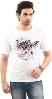 TSG Breeze Printed Men's Round Neck White, Purple T-Shirt