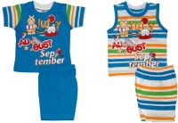 Little Hub Tops And Shorts Set Baby Boys  Combo