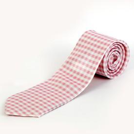 Blacksmith Pink Gingham Checks Design Checkered Men's Tie