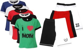 Gkidz T-shirt And Shorts Set Boy's  Combo - ACBE6VC8PZ2PSHVH