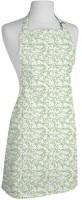 Smart Home Textile Cotton Apron Large White, Green, Single Piece