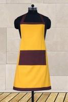 Dekor World Cotton Apron (Free, Yellow, Purple, Single Piece) - APRE664WBCPYTT99