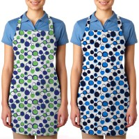 Smart Home Cotton Apron Free Size Green, Blue, Pack Of 2