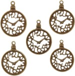 Tootpado Art & Craft Toys Tootpado Clock Flat Back Metal Craft & Scrapbooking Embellishments Antique Charms and Pendants