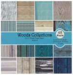 "Shopaholic Art & Craft Toys Shopaholic 6"" x 6"" Woods Collection Exclusive Craft Paper"