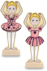 Melissa & Doug Art & Craft Toys Melissa & Doug Wooden Magnetic Ballerina Fashions