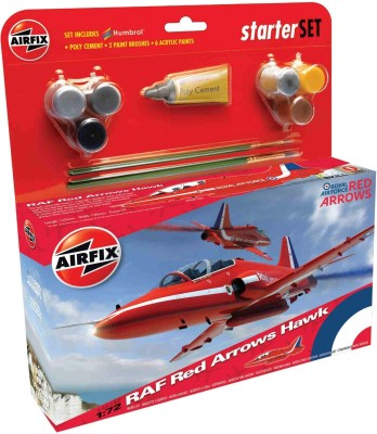 Funskool Art & Craft Toys Funskool Airfix 1:72 Raf Red Arrows Hawk Starter Set