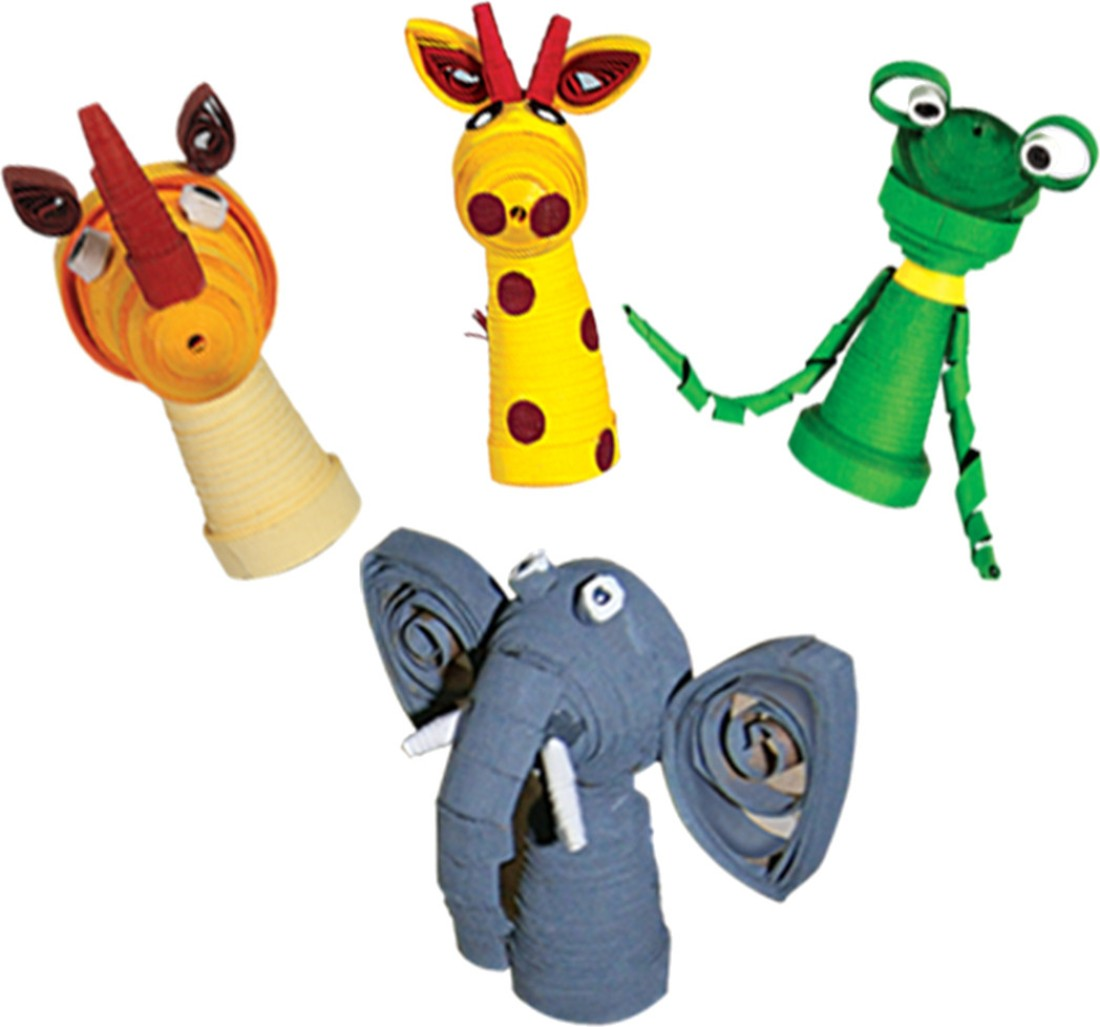 how to make animal finger puppets with paper