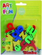 Simba Art & Craft Toys Simba Art and Fun Plastic Magnetic Letters