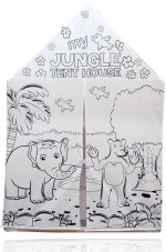 Planet of Toys Art & Craft Toys Planet of Toys Paint Your Own Jungle Tent House