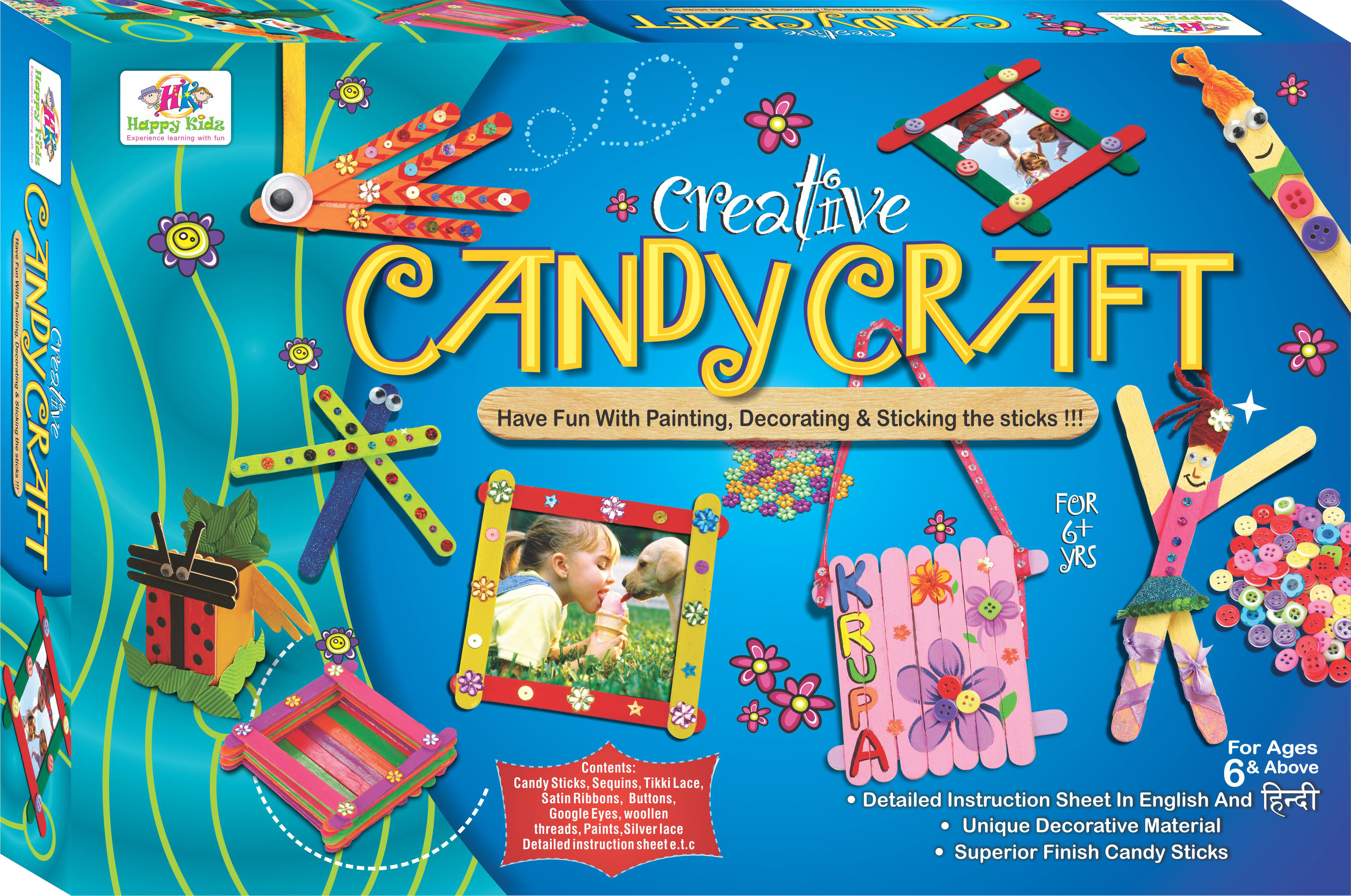 Happy kidz creative candy craft art craft toys for for Craft toys for kids
