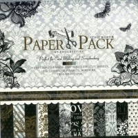 CraftDev Set Of 24 Thick Beautiful Pattern Design Printed Papers For Art N Craft, Size: 12 X 12 Inch - 12 Unique Designs (2 Sheets Per Design + 3 Die Cut Sheets) (BLOSSOM 2)