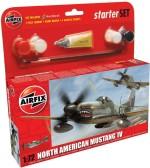Funskool Art & Craft Toys Funskool Airfix 1:72 North American Mustang Iv Starter Set