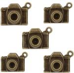 Tootpado Art & Craft Toys Tootpado Camera Flat Back Metal Craft & Scrapbooking Embellishments Antique Charms and Pendants