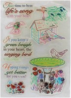 Tootpado Singing Bird Clear Rubber Stamps, Set Of 7 (CRSJ00) - For Card Making And Scrapbooking (1l925)