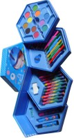 Shoplorry COLOR SET OF 46 PCS, COLOR PENCIL ,CRAYONS, OIL PASTEL, SKETCH PENS